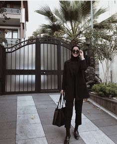 Office Look Wanita Hijab - Office Modern Hijab Fashion, Street Hijab Fashion, Hijab Fashion Inspiration, Muslim Fashion, Modest Fashion, Fashion Outfits, Dress Outfits, Women's Fashion, Fashion Trends
