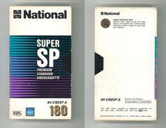 National SUPER SP Premiumm Standard Videocassette NV-E180SP-A 180 Minute VHS Tape