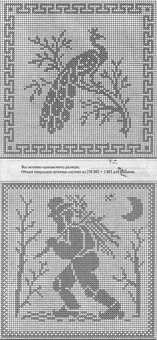 un solo color Cross Stitch Bird, Cross Stitch Designs, Cross Stitching, Cross Stitch Patterns, Crochet Birds, Thread Crochet, Crochet Doilies, Filet Crochet Charts, Fillet Crochet