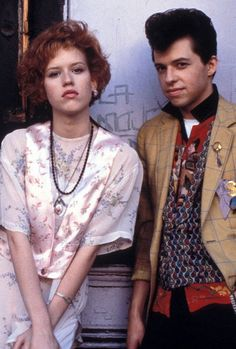 Molly Ringwald and Jon Cryer, Pretty In Pink.