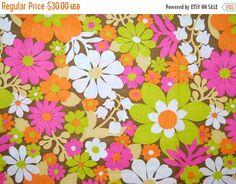 VINTAGE fabric mod flower by vintageinspiration