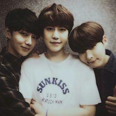 Yesung, Kyuhyun, and Ryeowook