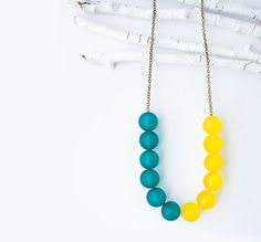 Yellow and Turquoise by Noa Ambar Regev on Etsy