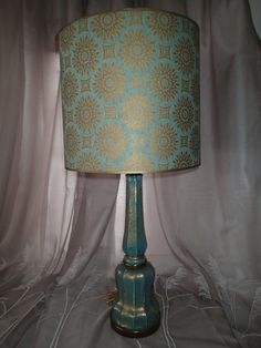 Victorian style ruffled glass lamp shades by retroresalesandiego vintage hollywood regency paul hanson designer lamp with matching original paul hanson lamp shade and finial aloadofball Images