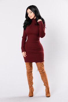 Got To Get It Dress - Burgundy