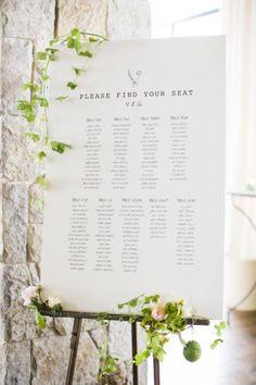 novias-inspiradoras-16 Seating Plan Wedding, Wedding Signage, Wedding Table, Seating Plans, Table Seating, Wedding Reception, Wedding Events, Our Wedding, Dream Wedding