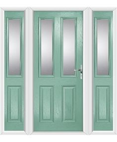 The Cardiff Composite Door in Green (Chartwell) with Clear Glazing and matching Side Panels  sc 1 st  Pinterest & A Chartwell Green Cardiff Composite Doors! | Composite Doors ... pezcame.com