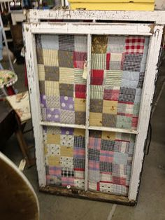Great idea for using an old, tattered quilt