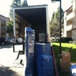 loading the truck.
