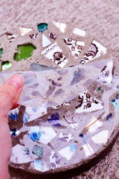 mosaik trittsteine zum selbermachen oberschicht entfernen
