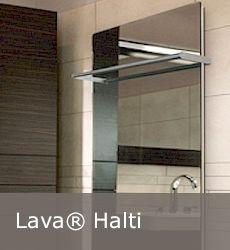 Infrarood paneel spiegel Lava handdoek rek Lava, Bathroom Lighting, Mirror, Design, Home Decor, Bathroom Light Fittings, Homemade Home Decor, Mirrors