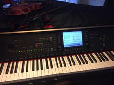 Yamaha CVP309GP! Great selection of piano sound bank, ease of use and 16track sequencer and it can make a movie orchestra track from this!