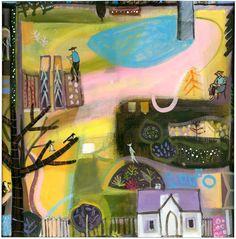 Limited Edition Print  Carol Saunderson - Tending the Garden