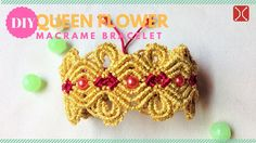 DIY macrame bracelet tutorial Queen Flower - Easy Step by step handmade ...