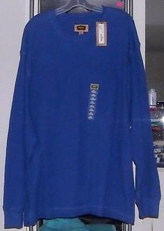 FOUNDRY 3XL Big & Tall MEN'S L/S Bright Cobalt Blue Crew-Neck Thermal Shirt NWT in Clothing, Shoes & Accessories, Men's Clothing, Sweaters | eBay