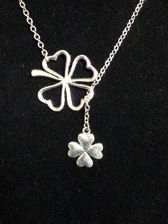 Luck of the Irish clover necklace