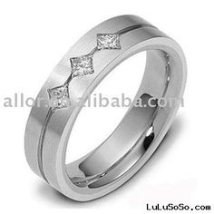 Three (: Perfect men's wedding ring.