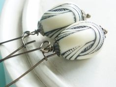Nautical Earrings - Nautical Mile Earrings - Sailor's Knot