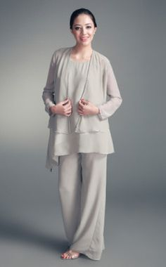 MOB: Chiffon Jacket & Chiffon Pant Set (but different color)