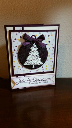 Stampin Up Merry Christmas Peaceful Pines Card