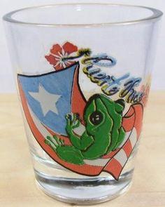 COQUI W/BANDERA SHOT GLASS.