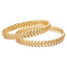 Two leaves and a bud - the universal symbol for spring! This pair of gold and diamond bangles captures the fresh, enlivening spirit of the season. Show off a slender wrist. The Bangles, Silver Bracelets, Bangle Bracelets, Link Bracelets, Bracelets Design, Gold Bangles Design, Jewelry Design, Jewelry Accessories, Diamond Bangle