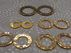 Copper Washers hammered & blackened - would make pretty necklaces!
