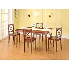 Better Homes and Gardens Ashwood Road 5-Piece Dining Set, Brown Cherry