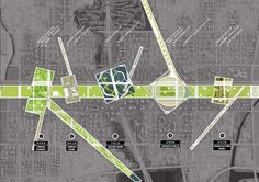 OMA Changchun Jingyue Cultural and Leisure District Urban Design Concept, Urban Design Diagram, Urban Design Plan, Architecture Graphics, Urban Architecture, Concept Architecture, Architecture Diagrams, Architecture Portfolio, Landscape Diagram