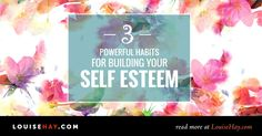 Here are 3 of my favorite tools for building self esteem that I use daily, plus a free meditation for better self-esteem. <3 Louise