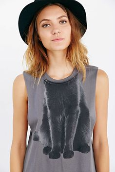 Cat Costume Muscle Tank Top