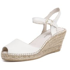 Sofia Cruz Ana 107 Blanco ($115) ❤ liked on Polyvore featuring shoes, sandals, summer sandals, beach shoes, leather shoes, leather sandals and platform sandals