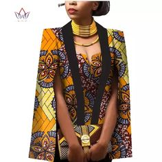 Quality African Women Clothing Full Sleeve Cape Coat Dress Suit African Tops 2 Piece Set Party Dresses Winter Dress Women Clothes with free worldwide shipping on AliExpress Mobile Short African Dresses, Latest African Fashion Dresses, African Inspired Fashion, Africa Fashion, Casual Skirt Outfits, Simple Outfits, African Attire, African Wear, Winter Outfits Women