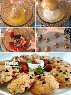 Çilekli Çikolatalı Cookies Tarifi nasıl yapılır? 5.458 kişinin defterindeki bu tarifin resimli anlatımı ve deneyenlerin fotoğrafları burada. Yazar: esin akan