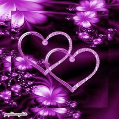 Hearts Purple Art, Purple Love, All Things Purple, Purple Lilac, We Heart It Wallpaper, Butterfly Wallpaper, Love Wallpaper Download, Animated Heart, Beautiful Rose Flowers