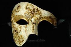 Men Masquerade Mask for Men Phantom of the Opera  Venetian mask Half Face Costume Party Mask on Etsy, $27.95