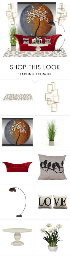 """Red Sofa"" by jojona-1 ❤ liked on Polyvore featuring interior, interiors, interior design, home, home decor, interior decorating, Somerset Bay, Home Design Studio, Distinctive Designs and Christopher Guy"