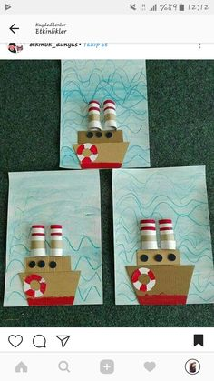 9 Best & Fun Transportation Crafts For Kids And Preschoolers Projects For Kids, Diy For Kids, Art Projects, Paper Roll Crafts, Paper Crafting, Diy Paper, Preschool Crafts, Crafts For Kids, Transportation Crafts