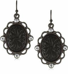 1928 Jewelry Victorian Gothic Black & Diamond Oval Drop Earrings 1928 Jewelry, http://www.amazon.com/dp/B001SIBQ7O/ref=cm_sw_r_pi_dp_XjWgqb0H496JS