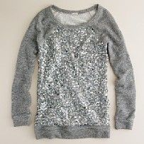 A sequin pullover! For those days where you want to be lazy and cute! Perfect!