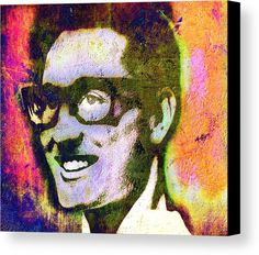 Buddy Holly Canvas Print featuring the painting Buddy Holly 2 by Otis Porritt