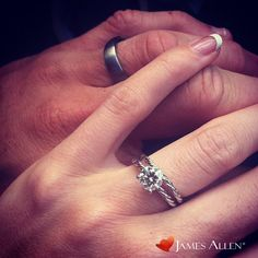 engagement ring inspo… 14k white gold solitaire ring from james allen