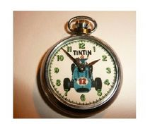 Vintage Tin Tin Character dial pocket watch by martonmere on Etsy