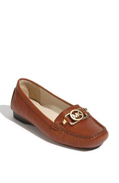 e87f3178f095 MICHAEL Michael Kors  Charm  Saffiano Leather Moccasin Suede Leather Shoes