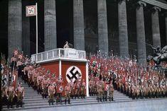 Reich Minister of Propaganda Joseph Goebbels speaking at the Lustgarten in Berlin, 1938