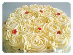 My first rose cake