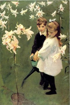 John Singer Sargent -- when I first saw this on a print, the little boy reminded me so much of my son.