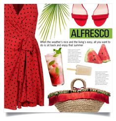 """""""Summertime And The Living Is Easy ..."""" by marina-volaric ❤ liked on Polyvore featuring Dolce&Gabbana, Moschino, H&M and alfrescodining"""