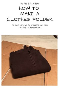 How to Fold Clothes - How to make your own clothes folder so you can have perfectly folded clothes #howto #diy #cleaninghacks #clothesfolder #organizinghacks #organizing #cleaning #clothesorganization #howtomakeaclothesfolder #howtofoldclothes Clothes Folding Board, Fold Clothes, Make It Work, How To Make, Clean My House, Make Your Own Clothes, Laundry Hacks, Me Clean, Organizing Your Home