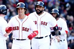 Andrew Benintendi Photos Photos - Andrew Benintendi #16 of the Boston Red Sox celebrates after hitting a three run home run during the fifth inning of the opening day game against the Pittsburgh Pirates at Fenway Park on April 3, 2017 in Boston, Massachusetts. - Pittsburgh Pirates v Boston Red Sox
